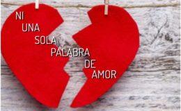 Ni una sola palabra de amor